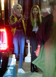 Ashley Benson & Cara Delevingne - Holding hands leaving Lucky Strike in NYC 5/17/18