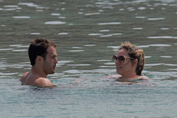 Kelly Brook in White Bikini on the Beach in Mykonos 05/26/2018bac042876420494
