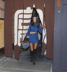 Kourtney Kardashian - Having dinner in Tokyo 3/1/18