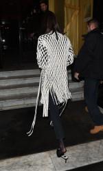 Bella Hadid - Arriving at her hotel in Paris 1/20/18
