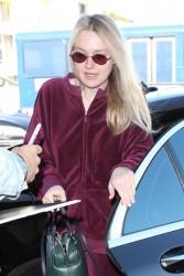 Dakota Fanning - At LAX Airport 1/22/18