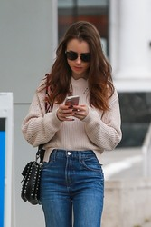 Lily Collins - Out in Beverly Hills 5/30/18