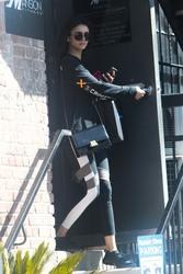 Nina Dobrev - Leaving the gym in LA 2/26/18