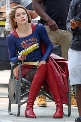 Melissa Benoist - Filming 'Supergirl' in Vancouver 8/14/18