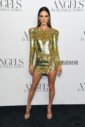 "Alessandra Ambrosio - ""ANGELS"" By Russell James Book Launch And Exhibit in NYC 9/6/18"
