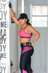 Ashanti - At the gym in LA 9/23/18
