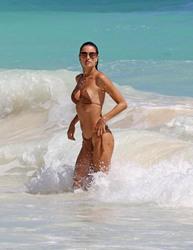 Alessandra Ambrosio - Bikini candids in Tulum, Mexico 2/16/18