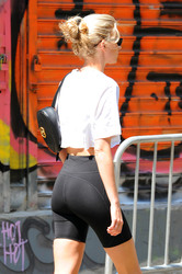 Elsa Hosk - Going to the gym in NYC 8/17/18