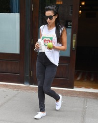Shay Mitchell - Leaving her hotel in NYC 9/7/18