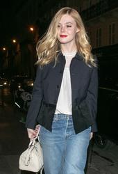 Elle Fanning - Out in Paris 1/21/19