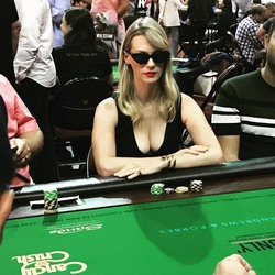 January Jones Playing Poker - 7/29/18 Instagram