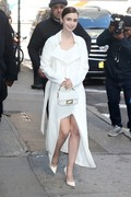 Lily Collins -          Arriving at ''Good Morning America'' New York City April 10th 2019.