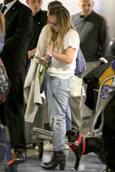 Hilary Duff - At LAX Airport 4/12/18
