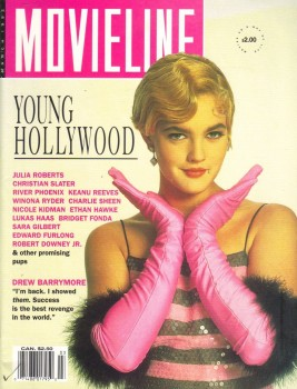 Drew Barrymore: Early 90's MOVIELINE Cover