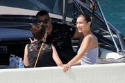 Bella Hadid boarding a yacht in Monaco 05/25/2018b68eed876374994