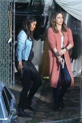 Jessica Alba & Gabrielle Union - Filming a Bad Boy spin-off Series in LA 3/23/18