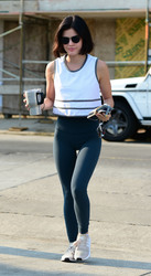 Lucy Hale - Going to the gym in LA 8/10/18