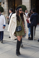 Shay Mitchell - Leaving her hotel in Paris 10/1/18