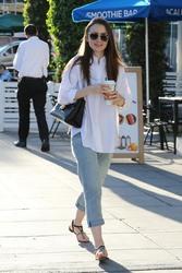 Lily Collins - Leaving a nail salon in LA 11/26/18