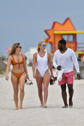 Lindsey Vonn in a Swimsuit at a Beach in Miami - 5/4/19