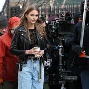 Josephine Skriver - Filming a Maybelline Commercial in NYC 2/1/19