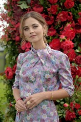 Jenna Coleman -             Cartier Queen's Cup Polo Final Windsor June 16th 2019.