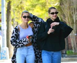 Hailey Baldwin & Bella Hadid - Out in NYC 5/1/18