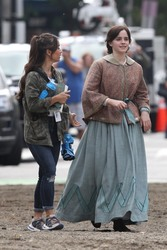 Emma Watson on the set of Little Women in Boston - 10/7/18