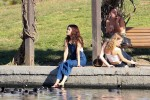 Selena Gomez at Lake Balboa park in Encino 02/02/201863c42d737644363