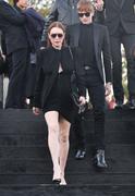 Lindsay Lohan - Saint Laurent Fashion Show in Paris 9/25/2018 a2b33d985773914