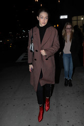 Gigi Hadid - Out for dinner in NYC 12/30/18