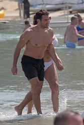 Kelly Brook in White Bikini on the Beach in Mykonos 05/26/20184ff3f6876418264
