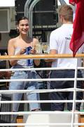 Bella Hadid boarding a yacht in Monaco 05/25/20183f406d876374784