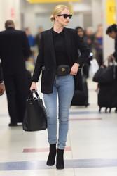 Rosie Huntington-Whiteley - At JFK Airport 4/3/18