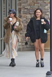 Vanessa & Stella Hudgens Leaving Starbucks in Los Angeles 04/19/2018f4b264829365823