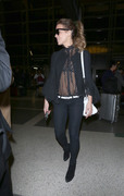 Kate Beckinsale - See-through To Bra Departing LAX Airport (5/13/18)