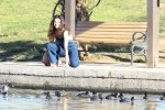 Selena Gomez at Lake Balboa park in Encino 02/02/2018c54176737644773