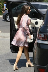 Lea Michele - Attends Friends Bridal Party in Venice CA - 08/26/2018