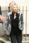 Cate Blanchett -                                 Leaving ''The Late Late Show with James Cordon'' London June 18th 2018.