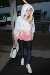 Dakota Fanning - At LAX Airport 5/2/18