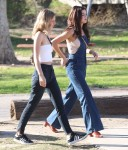 Selena Gomez at Lake Balboa park in Encino 02/02/20186ead36737638053