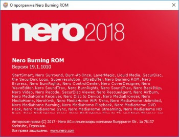 Nero Platinum 2018 Suite 19.0.10200 (MULTI/RUS/ENG) + Content Pack