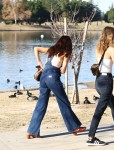 Selena Gomez at Lake Balboa park in Encino 02/02/2018db9ef9737641503