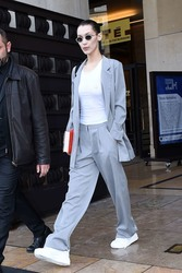 Bella Hadid - Leaving the Haider Ackermann Fashion Show in Paris 3/2/19