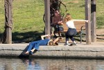 Selena Gomez at Lake Balboa park in Encino 02/02/2018974b88737644323
