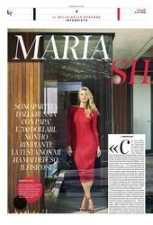 Maria Sharapova - Corriere della sera, January 2019