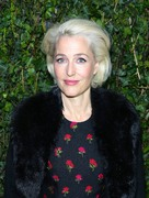 Gillian Anderson -            	Charles Finch & CHANEL Pre-Bafta party London February 17th 2018.