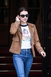 Emma Roberts - Leaving her hotel in Paris 3/6/19