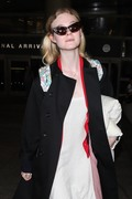 Elle Fanning - At LAX Airport 9/2/18