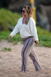 Hilary Duff - At the beach in Malibu 8/2/18